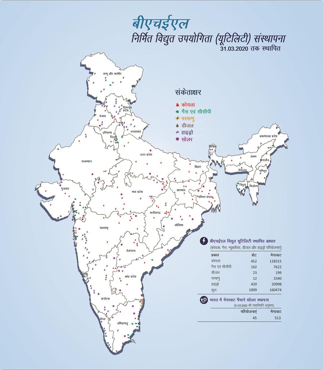 भारत में विद्युत स्थापना की छवि