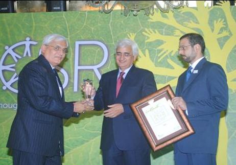 इंडिया शाइनिंग अवार्ड सीएसआर के क्षेत्र में सर्वश्रेष्ठ कैपिटल गुड्स कंपनी होने के लिए बीएचईएल को प्रदान किया गया की छवि